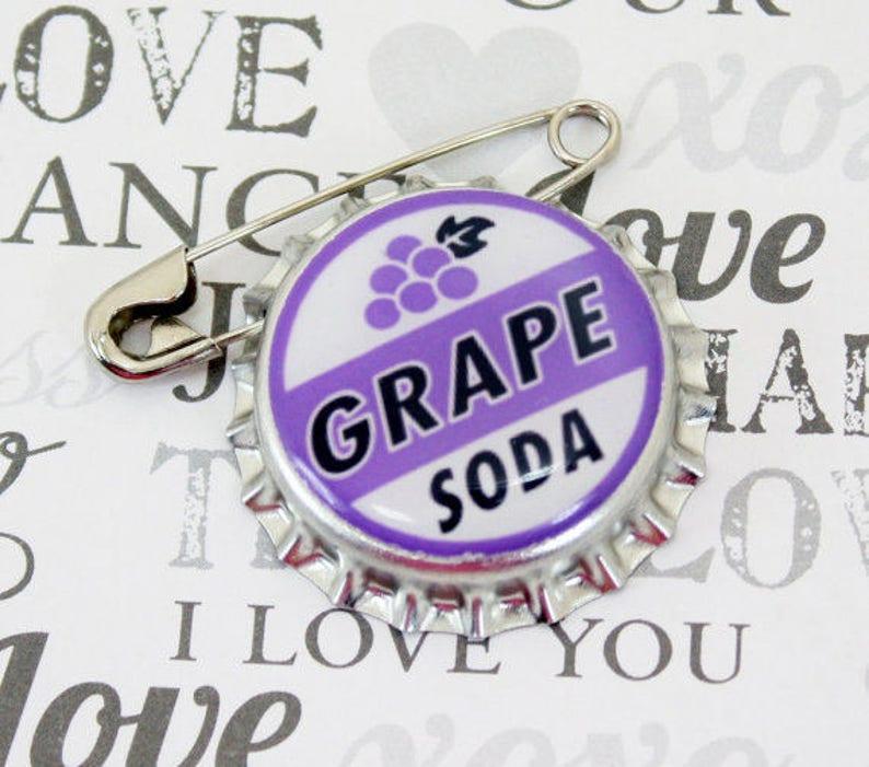 Ellie Badge Grape Soda PIN  LP   Personalized  Wilderness image 0