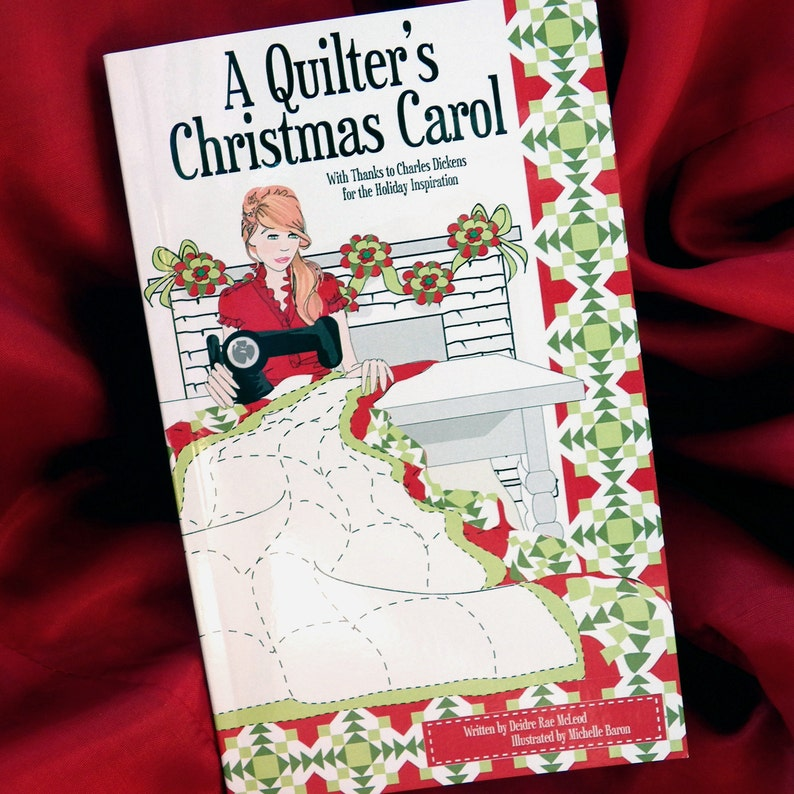 A Quilter's Christmas Carol Gift Book  Stocking Stuffer image 0
