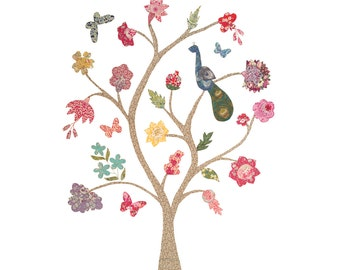 PATTERN : Tree of Life Raw Edge Applique Quilt Pattern Instant Download