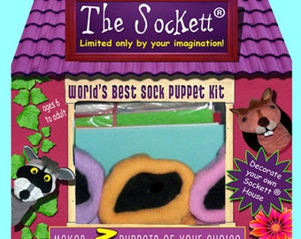 World's BEST Sock Puppet Kit, Deluxe No Sew Puppet Kit, Makes 3 puppets