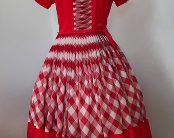Vintage 60s DeLoris Western Square Dance Dress S