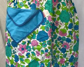 Vintage NOS 50s Silin's Floral Half Apron