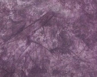 Vintage acid wash tye dye look purple satiny cotton fabric Q1020 sewing crafting project costume bags and purse making