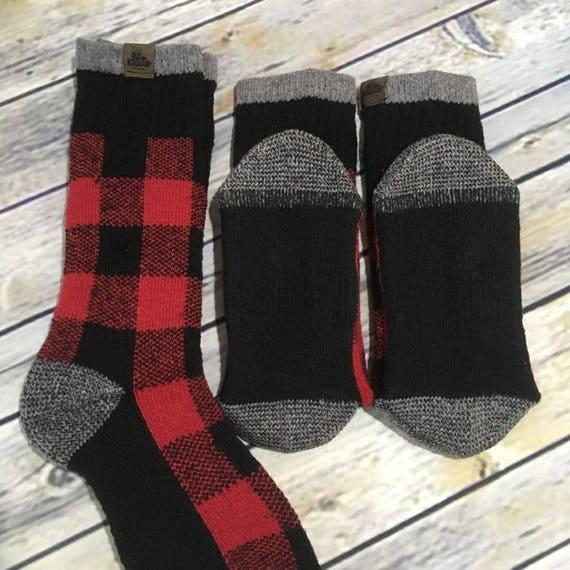 Mot chaussettes - chaussettes thermiques nouveauté Plaid arrêter - père s'il vous plaît arrêter Plaid ici - Funny chaussettes - chaussettes avec paroles - personnalisé - père Noël dfe050