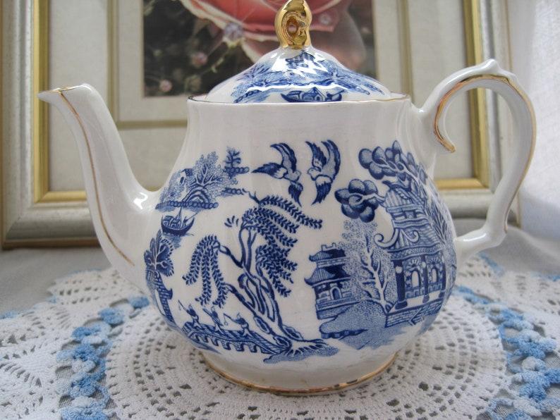 SADLER Willow Pattern 2 cup-Teapot