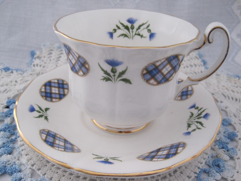 Adderley Fine Bone China Teacup And Saucer Dress Tartan