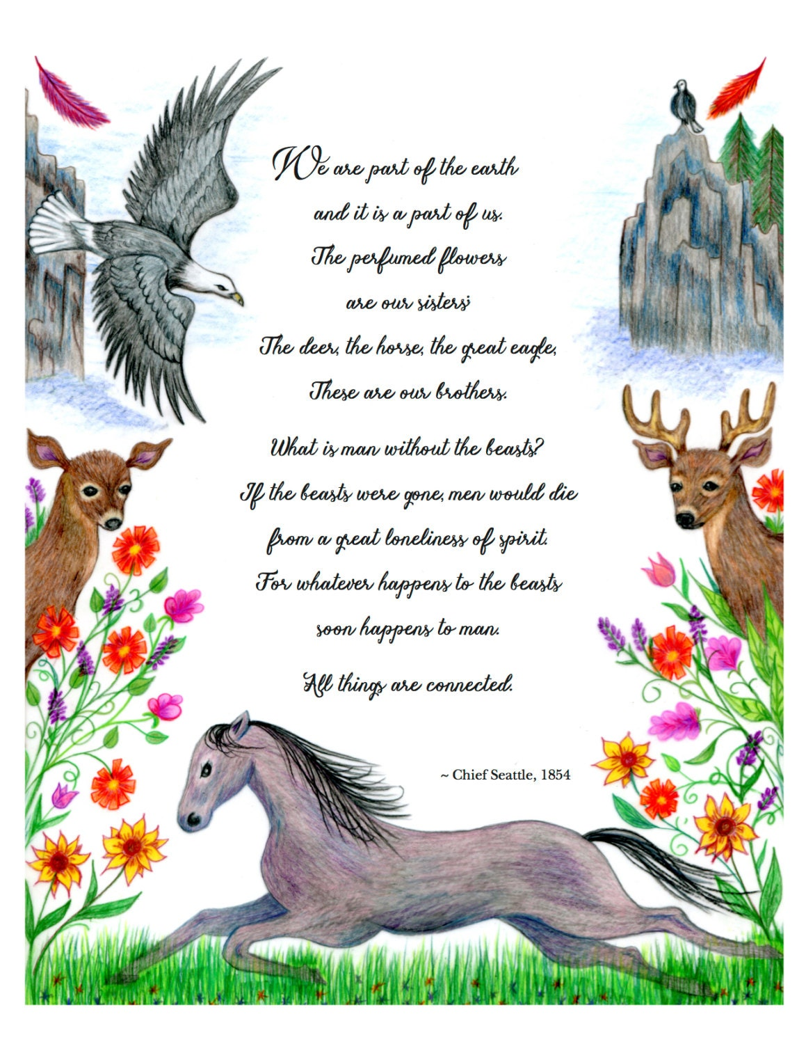 Chief Seattle Native American speech about animals