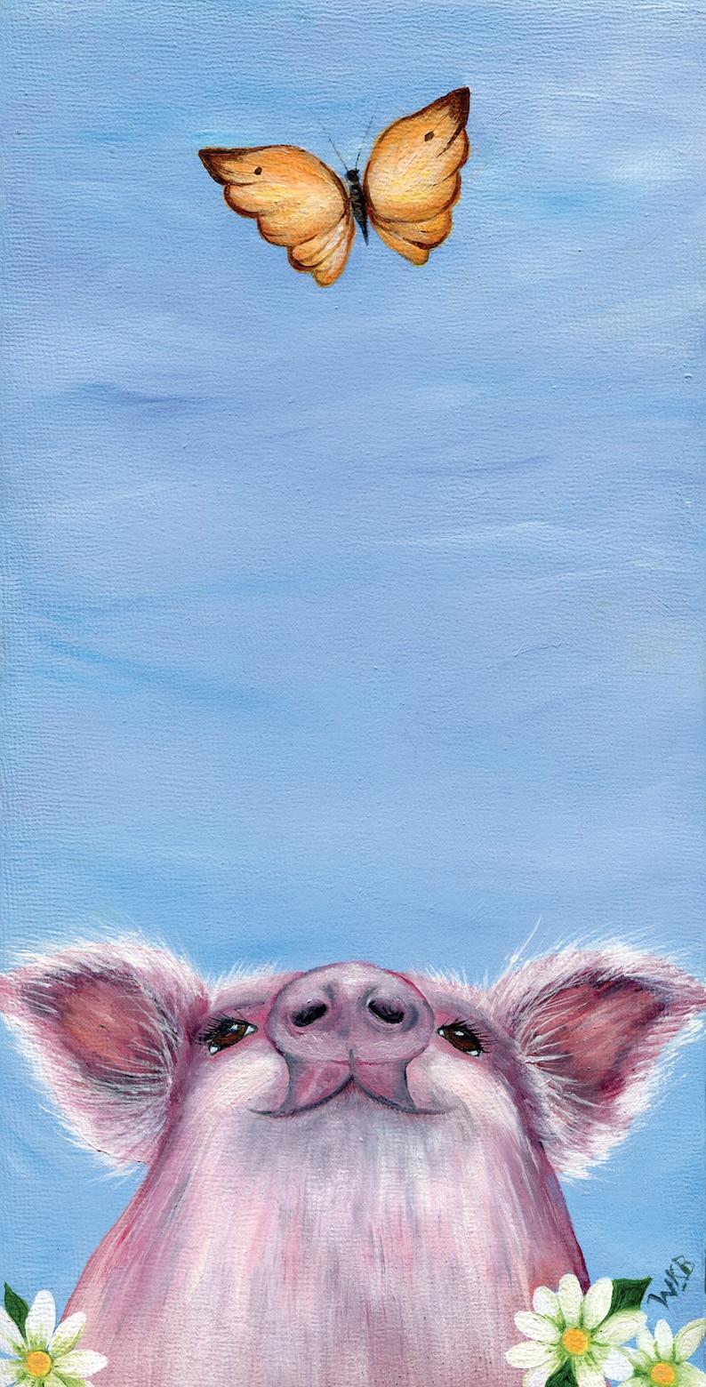 Tiny Cute Cartoon Animal Cochon pendentifs pour femmes Collier Animal Bijoux Cadeau