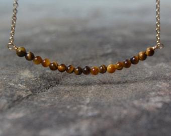 Delicate Tigereye Necklace Tigereye Layering Necklace