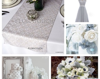 Silver Lace Table Runner