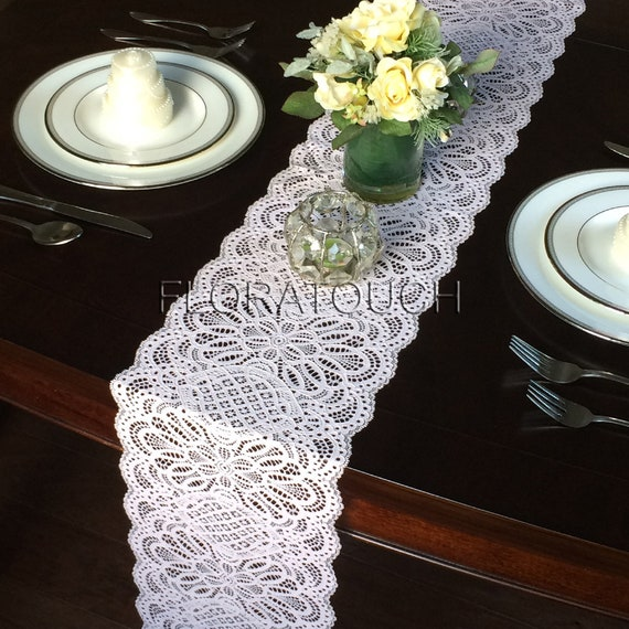 Thick Light Pink Lace Table Runner Wedding Table Runner 9 Wide Lpink2