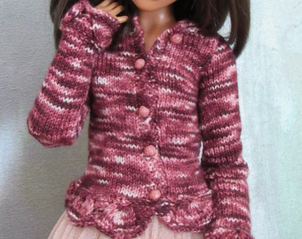 slim SD BJD cardigan Funny Valentine for Lillycat, MDR, and Doll Chateau