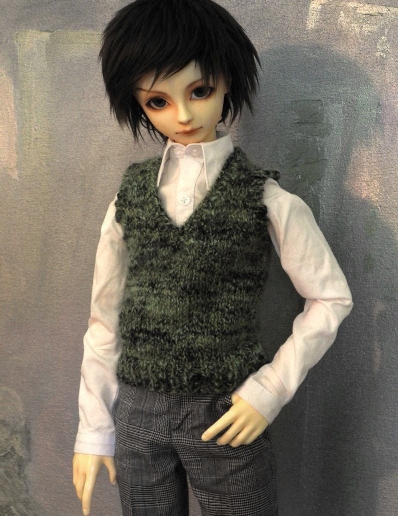 Sweater vest for 60cm SD13 BJD boy Go Green image 0