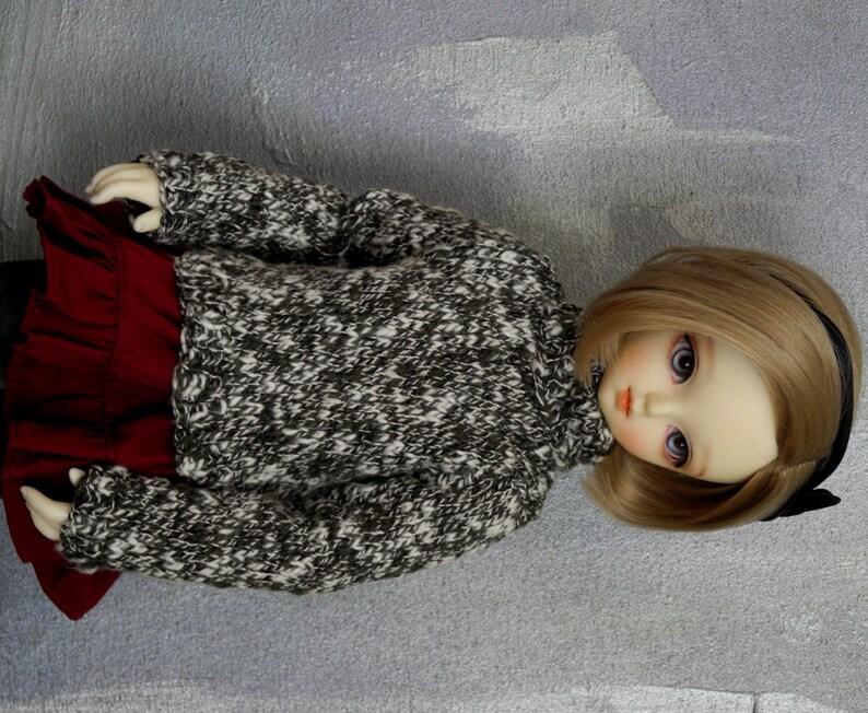MSD  mini BJD sweater Snowline image 0