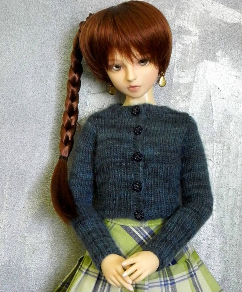 1/3 BJD girl cardigan sweater Nightblooming image 0