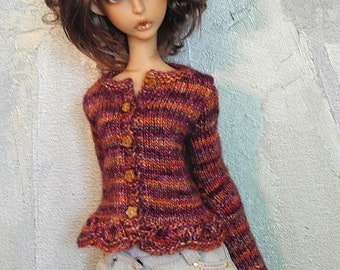 slim SD cardigan Zinnia Bouquet for Lillycat, Doll Chateau, and similar
