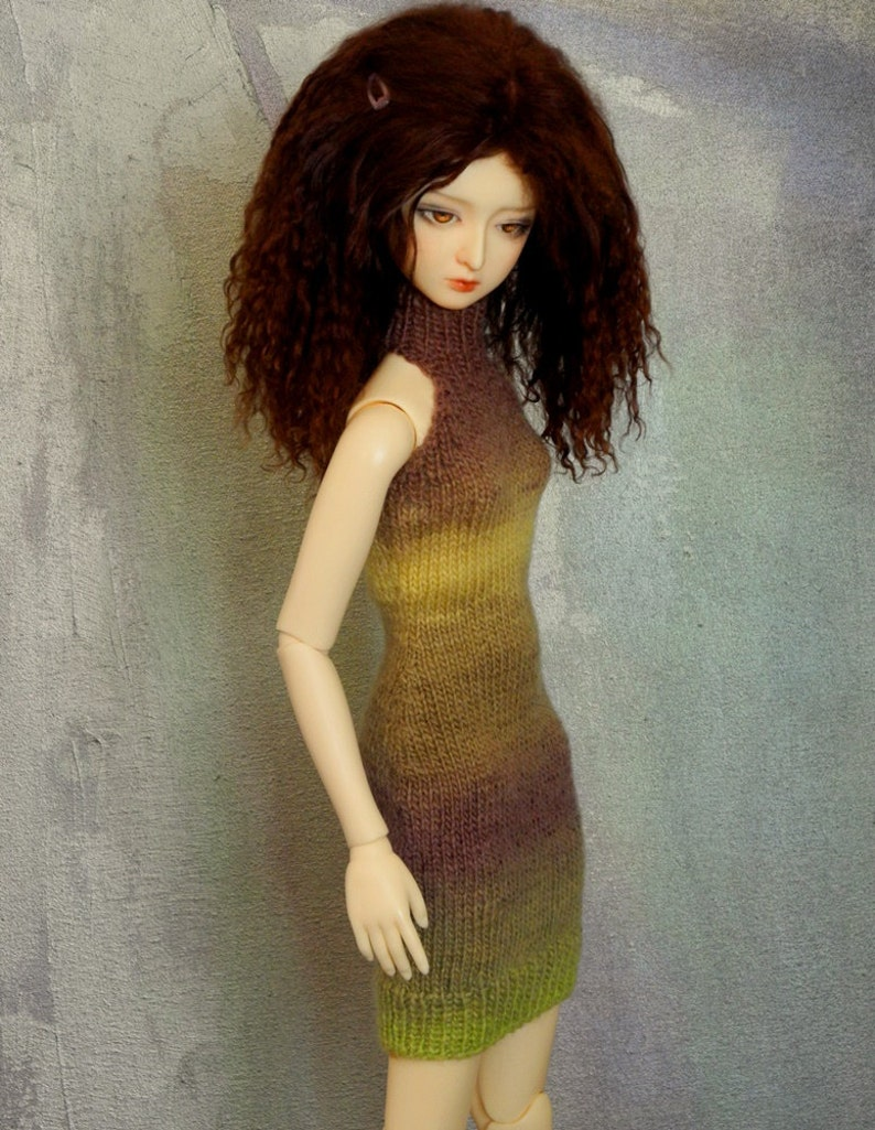 slim SD BJD handknitted dress Nightshade image 0