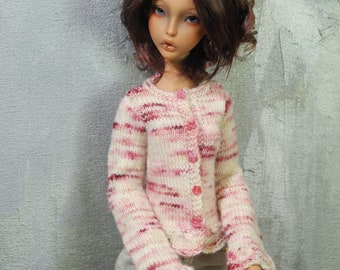 SD Lillycat Ellana BJD cardigan Raspberry Ripple