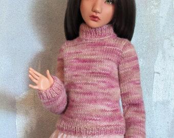 slim 1/3 SD BJD sweater Wild Rose