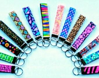 Cute keychain wristlet, Fabric wristlet keychain, fabric keychain, key fob, keychain, key fob wristlet, key fob, fabric key fob wristlet