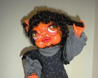 Halloween Pumpkin Doll Lori Gutierrez OOAK Art!!
