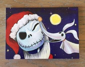"Holiday Greeting Card ""Zero Loves Jack!"" by Lori Gutierrez"
