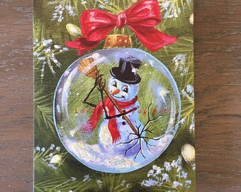 """Holiday Greeting Card """"Frosty Escapes!"""" by Lori Gutierrez"""