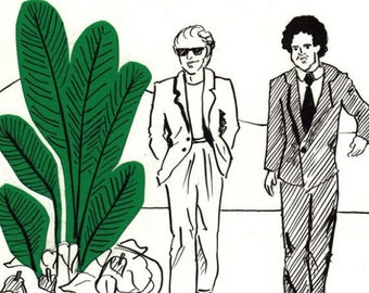 Original Art - With my lifestyle I could blow a million in a weekend, Miami Vice - Collage Drawing