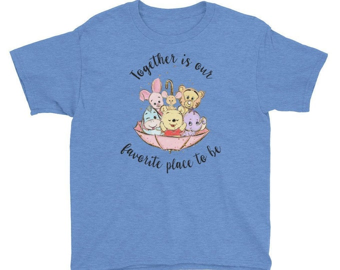 Together is Our Favorite Place - Pooh Inspired Blue Kids Crew Neck - FREE SHIPPING
