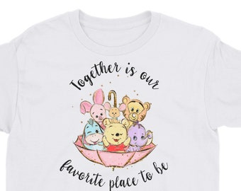 Together is Our Favorite Place - Pooh Inspired Kids Unisex Crew Neck