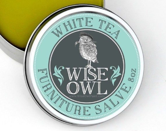 INTRO SALE! Wise Owl White Tea Natural Furniture Salve Furniture Wax - Scented Wax - low flat rate shipping