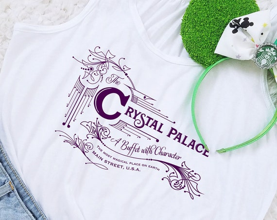 Crystal Palace Magic Kingdom Restaurant Inspired Flowy Racerback Tank - FREE SHIPPING