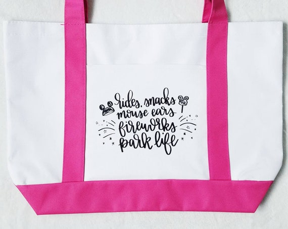 Read to Ship - Parke Life Tote in Pink - FREE SHIPPING
