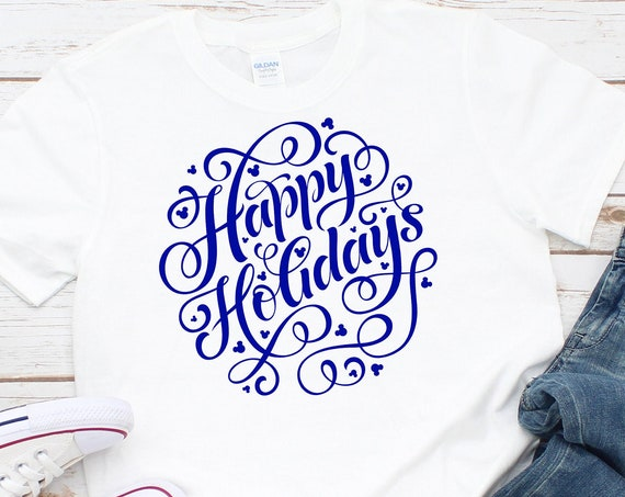 Hidden Mouse Happy Holidays Unisex Shirt - FREE SHIPPING