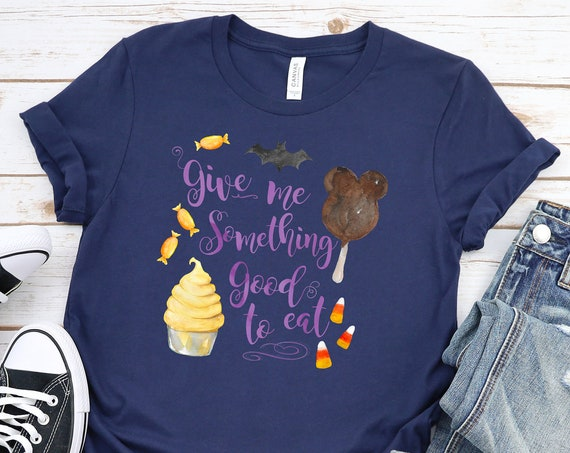 Trick or Treat - NAVY Mickey Bar and Dole Whip Inspired Halloween Unisex Crew Neck - FREE SHIPPING