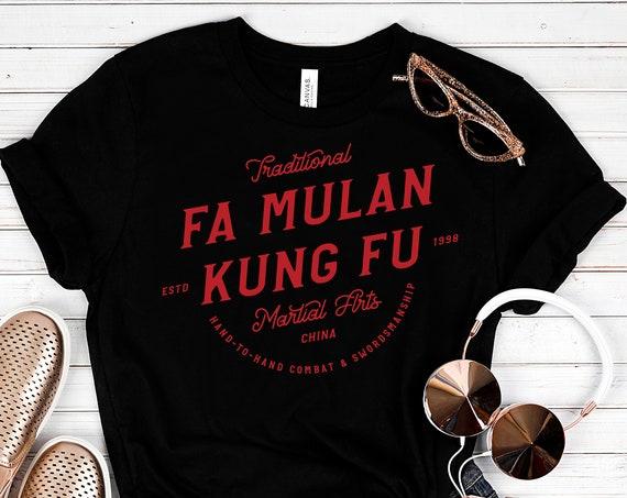 Fa Mulan Kung Fu - Black Unisex Crew Neck - FREE SHIPPING
