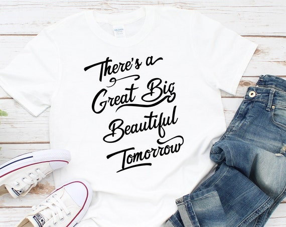 Beautiful Tomorrow Pooh Motivational Shirt - Unisex Crew Neck Shirt - FREE SHIPPING