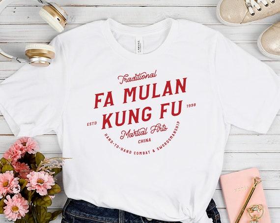 Fa Mulan Kung Fu - White Unisex Crew Neck - FREE SHIPPING