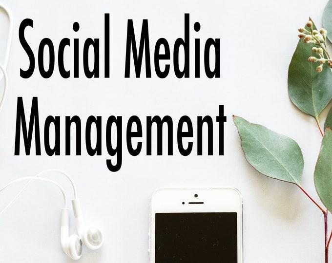 Social Media Management for Instagram, Facebook, Pinterest