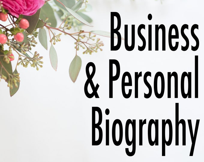 Business and Personal Biography - Content and Copy Writing Assistance