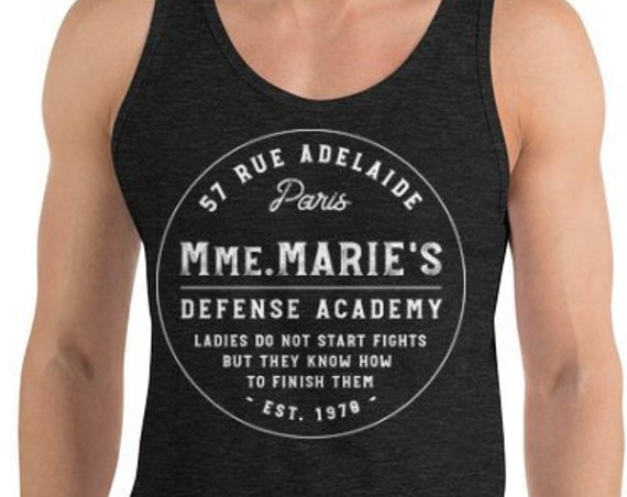 Mmm. Marie's Defense Academy - Princess Inspired Martial Arts - Unisex Tank Top - FREE SHIPPING