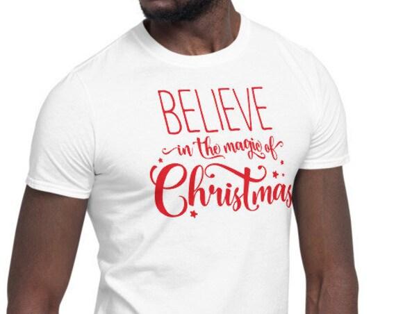 White Believe in the Magic of Christmas Unisex Crew Neck