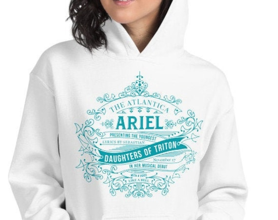 The Little Mermaid Daughter's of Triton Ariel Inspired White Sweatshirt