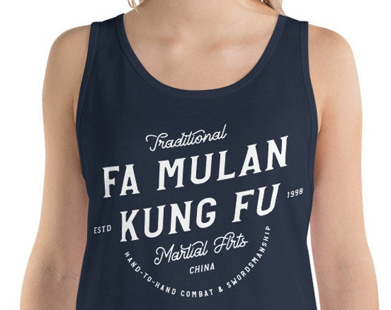 Fa Mulan Kung Fu - Princess Inspired Martial Arts - Unisex Tank Top - FREE SHIPPING