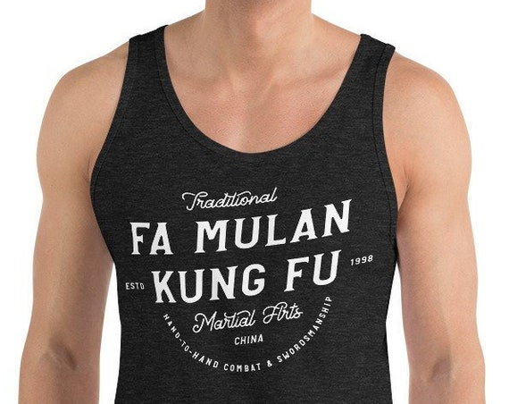 Fa Mulan Kung Fu - Princess Inspired Martial Arts - Unisex Tank Top - FREE SHIPPING