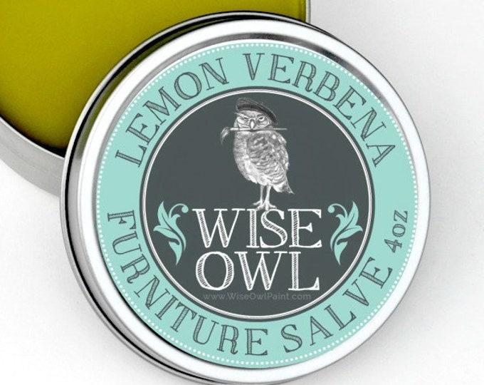 INTRO SALE! Wise Owl Lemon Verbena Natural Furniture Salve Furniture Wax - Scented Wax - Free Shipping