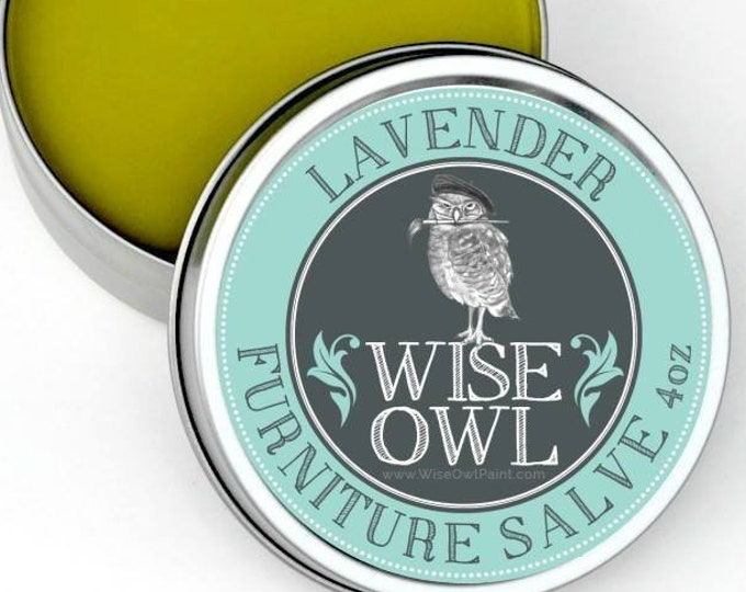 INTRO SALE! Wise Owl LAVENDER Natural Furniture Salve Furniture Wax - Scented Wax - Free Shipping