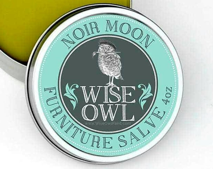INTRO SALE! Wise Owl Noir Moon Natural Furniture Salve Furniture Wax - Scented Wax - Free Shipping