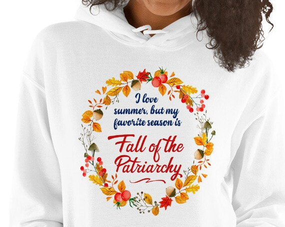 Fall of the Patriarchy Floral White Sweatshirt