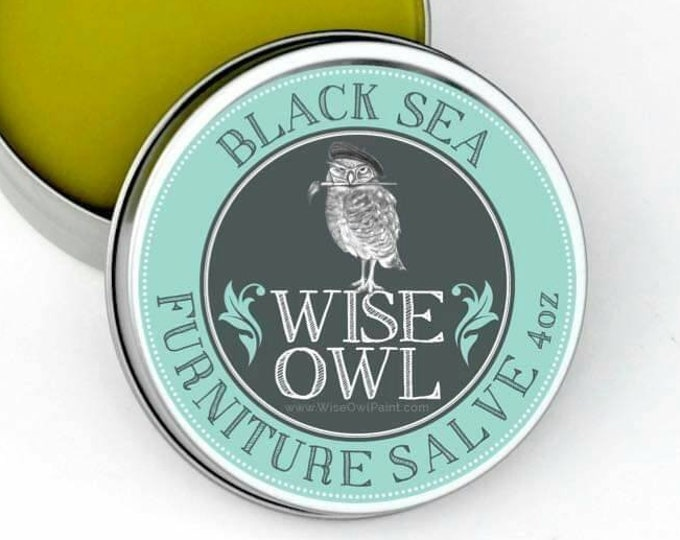 INTRO SALE! Wise Owl Black Sea Natural Furniture Salve Furniture Wax - Scented Wax - Free Shipping